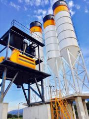 Readymix Concrete Mixing Plant from FABO | Twinshaft Mixer Plant