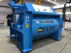 Concrete Mixer from FABO | Twinshaft Mixer 3 m3