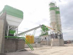 Stationary Concrete Batching Plant * Worldwide Qualitive Concrete Mixing Plant