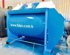 Twin Shaft Mixer * Concrete Mixer with Double Shaft * FABO manufactured
