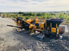 FABO | Mobile Jaw Crusher + Cone Crusher Plant | Mobile Crushing Plant