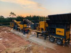 Mobile Hardstone Crushing and Screening Plant | MCK 90 | FABO production