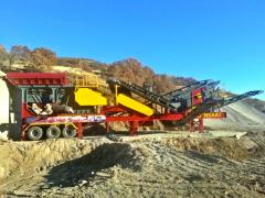 MCK-60 Mobile Crusher with High Stroke Vibrating Screen