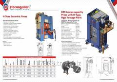Eccentric presses