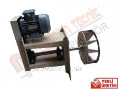 Air blowers with side airways for aeration and