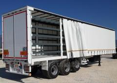 Semitrailers with canopy