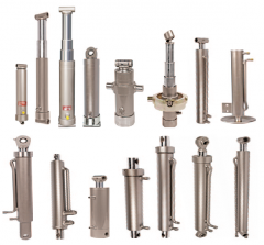 Hydraulic cylinders for towed machinery