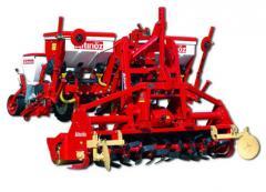 Rototiller pnömatik ekim makinası kombinasyonu
