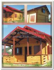 Wooden mobile houses, makeshift design