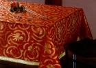 Örme kumaşla masa örtüsü