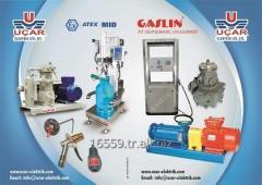 Equipment for gasoline filling stations