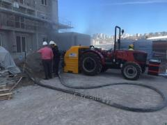 INS SCREED MACHINE WITH TRACTOR  (FIRST IN THE