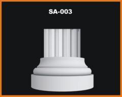 Columns, column socles, column capitals