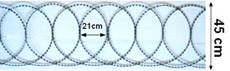 Jiletli tel bariyer 45 cm uzunluğunda