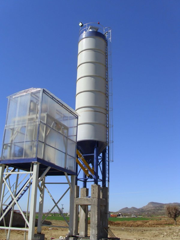 stationary_dry_type_concrete_batching_plant