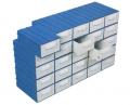Plastik malzeme kutusu dolabı ES-105 Blok