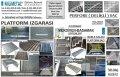 Platform Izgarası Basamak Izgarası Platform Sacı Perfore Basamak Metal İskele Kalası
