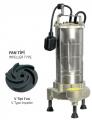 Paslanmaz Çelik Gövdeli Atık Su Dalgıç Elektropomplar ASM/AST - V Tipi Fan