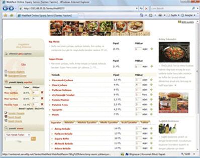 Sipariş Restaurant Programı, SentezWeb REST, Kendi Web Sayfanızda Menü, Promosyon Ve Kampanyalarınızı Duyurabilirsiniz.