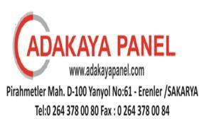 Sipariş ADA KAYA PANEL LTD. ŞTİ.