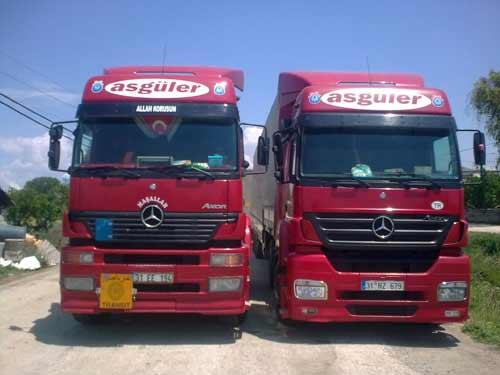 Sipariş Asgüler taşımacılık hizmetleri