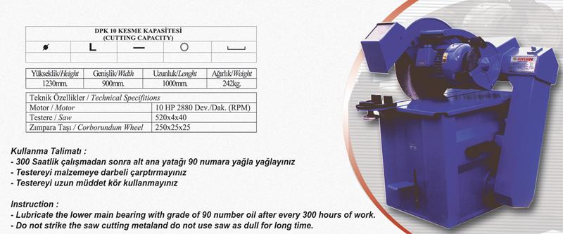 Sipariş 10 HP PUROFİL KESME