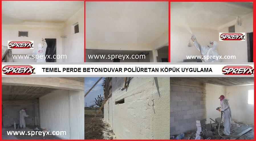 Sipariş SPREYX - SPREY POLİÜRETAN KÖPÜK TAVAN İZOLASYON