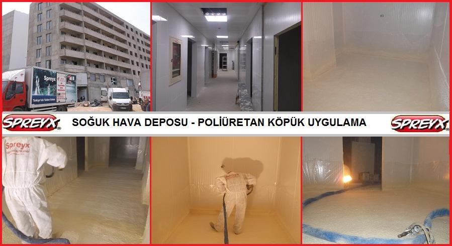 Sipariş SPREY POLİÜRETAN SOĞUK HAVA DEPOSU ISI YALITIM UYGULAMA