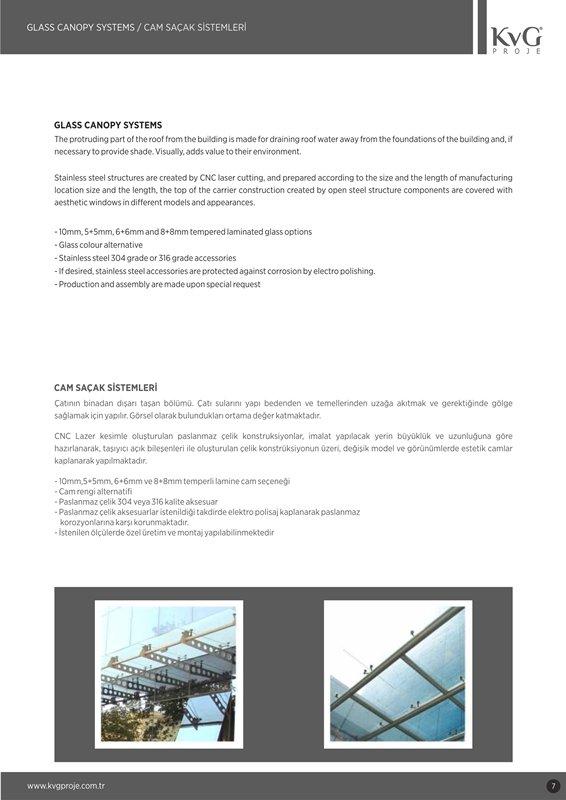 Sipariş Cam Saçak Sistemleri