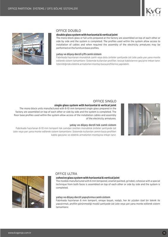 Sipariş Ofis Bölme Sistemleri