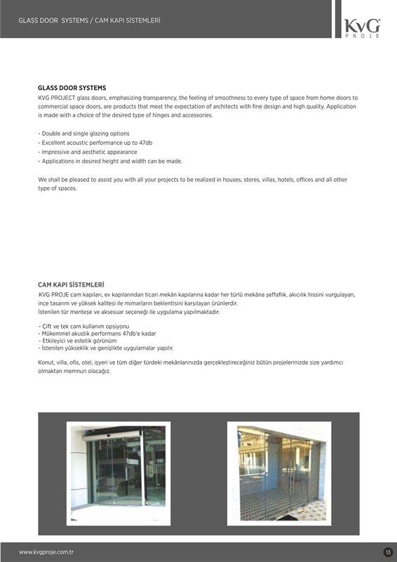 Sipariş Cam Kapı Sistemleri