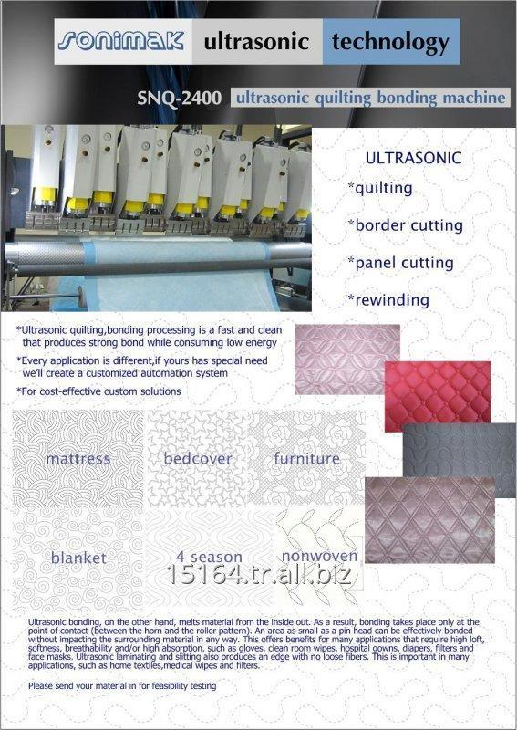 Sipariş Ultrasonic Quilting Bonding Machine Lines