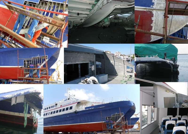Aluminium Ship Repair & Dry Dock Services, Hull Maintenance,Engine  Maintenance, On board mechanical repairs & overhauls,Pump repair,Damage  Surveys and
