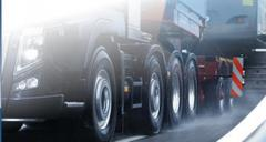 Trucking a passing vehicle loading