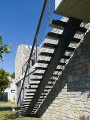 Lüks Çelik Merdiven | Ortadan Tek Omurgalı