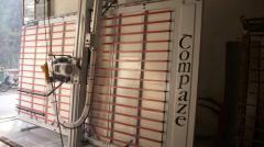 Composite panel sizing machines