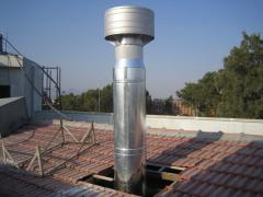 Steel chimney, linen - refuse chute