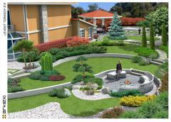 Bahçe peyzajı tasarımı